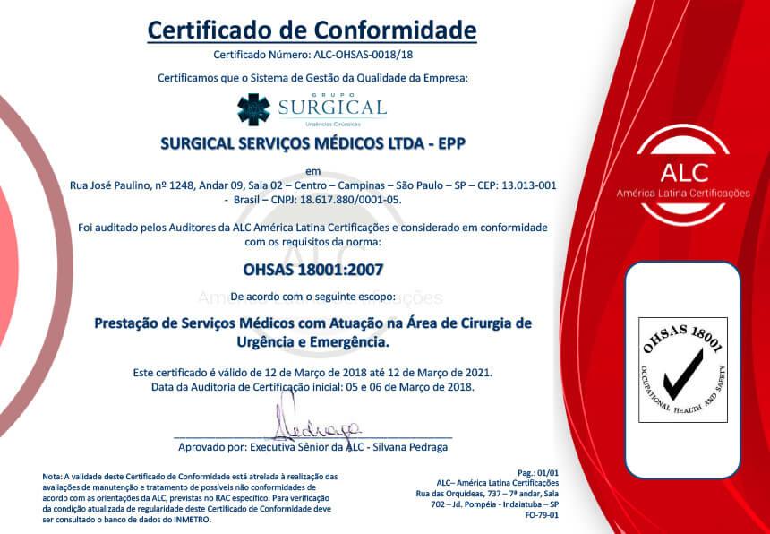 Certificação ALC